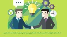 شکستن انزوای اداری و ایجاد همکاری بین تیم های مرتبط با مشتری