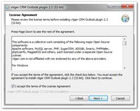 مجوز نصب اتصال Outlook با ویتایگر
