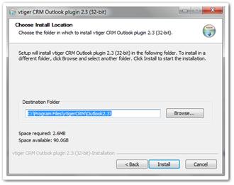 مسیر نصب اتصال Outlook با ویتایگر