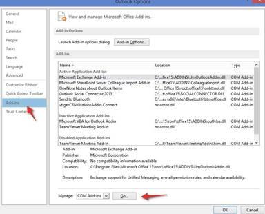 فعال سازی پلاگین ویتایگر- Outlook 2