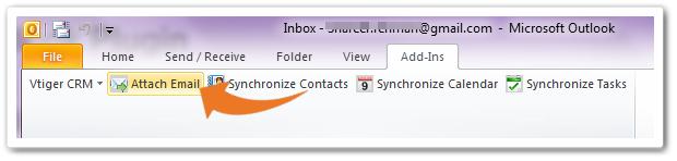 الصاق ایمیل ها