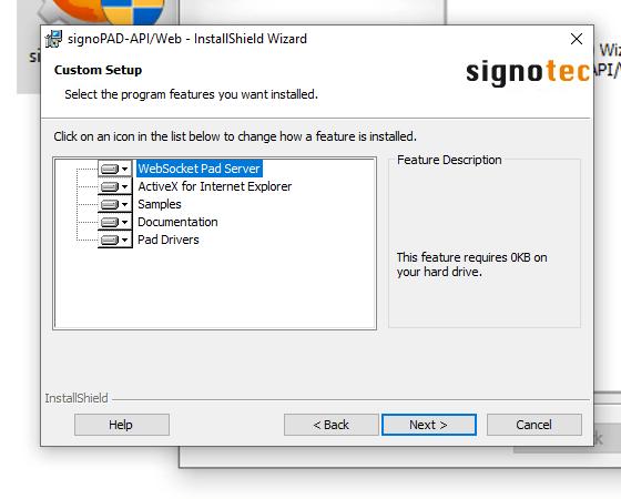 نصب نرم افزار پد امضای دیجیتال مرحله 1