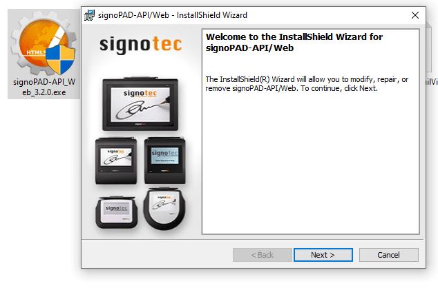 نصب نرم افزار پد امضای دیجیتال
